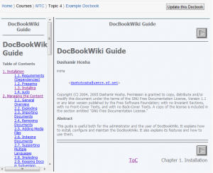 Viewing the Sample DocBook