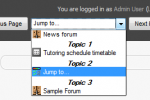 Review: Moodle 2.0 Jump to Menu Block