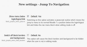 Block Jump To Menu Settings