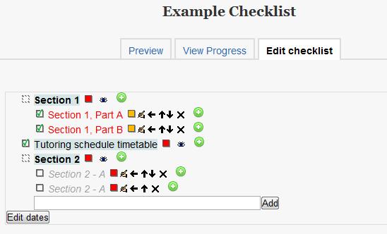 Checklist Activity Edit