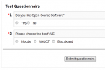 Review: Activity module Questionnaire for Moodle 2.0