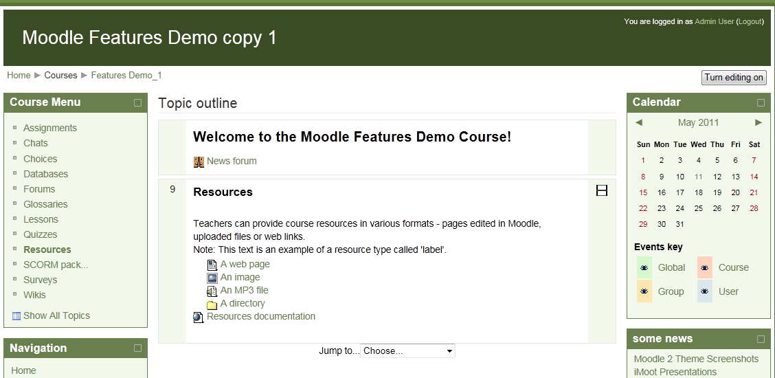 Review: Course Menu Block for Moodle 2 0 | Some Random Thoughts