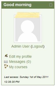 User Info Block