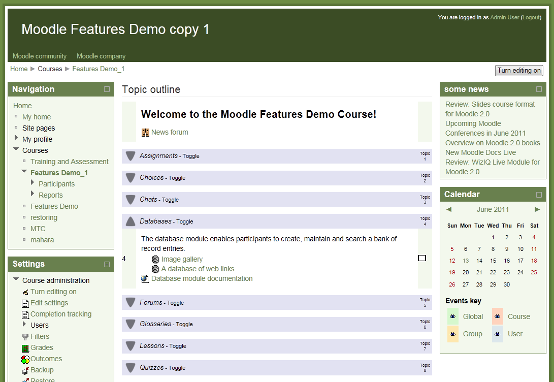Review: Collapsed Topics course format for Moodle 2 0 | Some Random