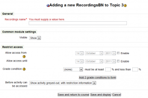 Add Resource Recording