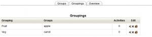 Groupings List