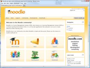 Figure 1 – Moodle Community site http://Moodle.org