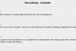 Review: Scheduler for Moodle 2