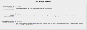 Scheduler Global Settings