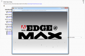 Adobe Edge Demo in popup