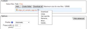 Unzipping a file