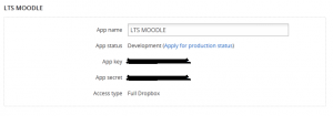 Dropbox APP Details
