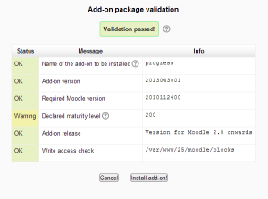 Add-on package validation