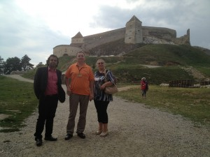 Moodlers at the Rasnov Fortress