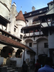 Inside the courtyard at Bran Castle