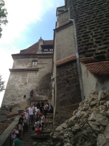 Outside Bran Castle