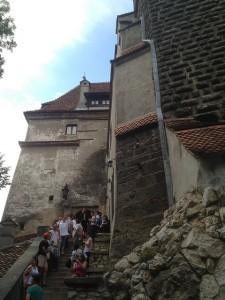Outside Bran Castle