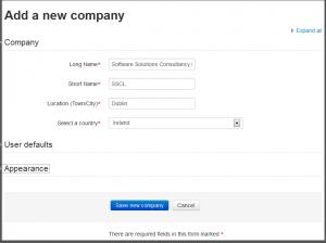 Iomad Add Company