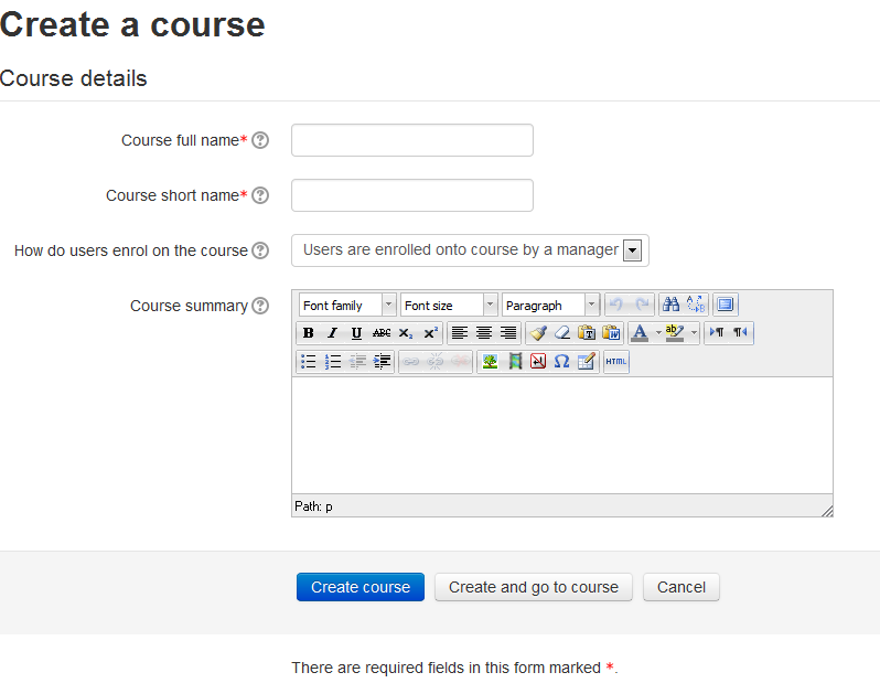 how to create an online course in moodle