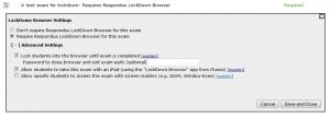 Moodle Respondus Quiz Configuration